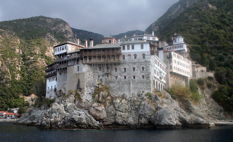 One of the orthodox monasteries at Mount Athos (photo Mount Athos Area Org)